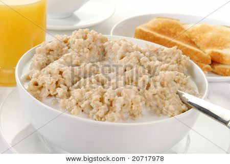 Bowl Of Hot Oatmeal