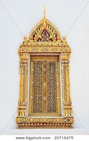 Ancient Window At Wat Pho