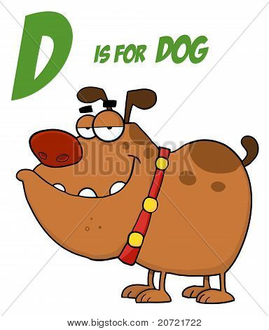 Bulldog Under D Is For Dog