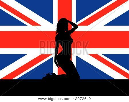 Female On Union Jack