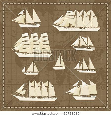 Set of sailfish icons