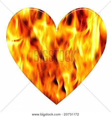 Corazón ardiente de amor