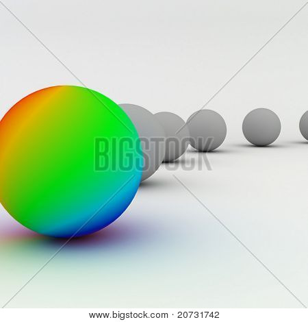abstract balls group isolated on white