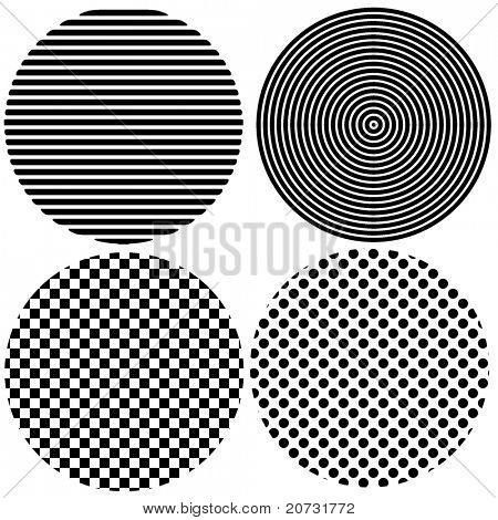 mono cercles for design with texture on white