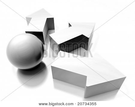 abstract 3d concept for design
