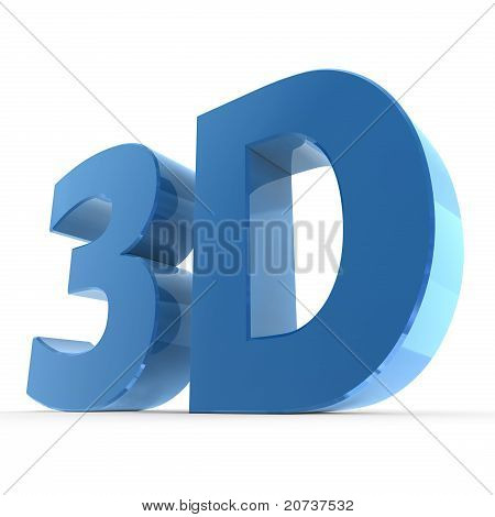 Shiny Word 3D - Glossy Blue