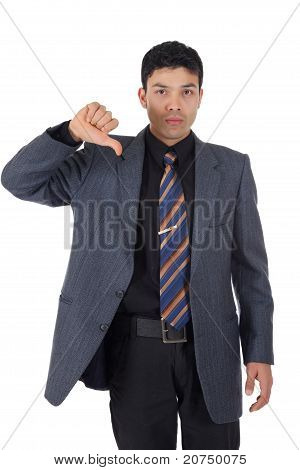 Attractive Nepalese Businessman, Thumb Down