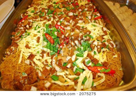 Yummy And Fresh Mee Siam Meehoon In The Pans
