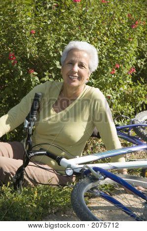 Relaxing After Biking