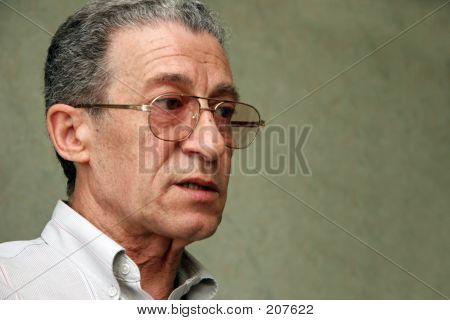 Mature Man Talking