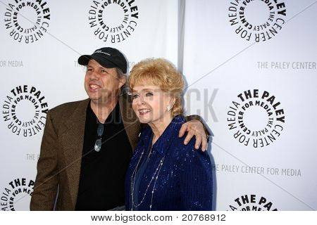 LOS ANGELES - JUN 7:  Todd Fisher, Debbie Reynolds arrive at the Debbie Reynolds Collection Auction Preview at Paley Center For Media on June 7, 2011 in Beverly Hills, CA