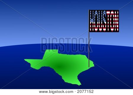 Hoston On Texas Map