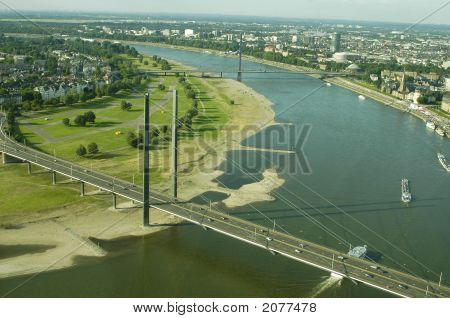 Luftbild von Düsseldorf