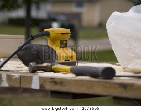 Contractor'S Tools On The Table