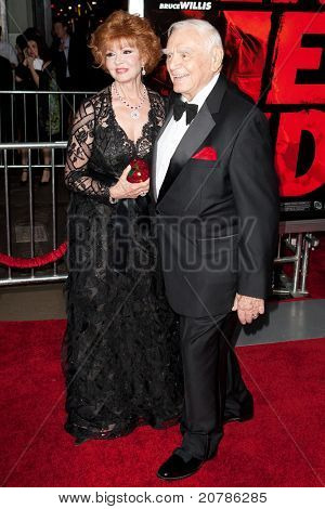 HOLLYWOOD, CA. - OCT 11: Tova Borgnine (L) & Ernest Borgnine arrive at the Los Angeles special screening of Red at Grauman's Chinese Theatre on Oct. 11, 2010 in Hollywood, California.