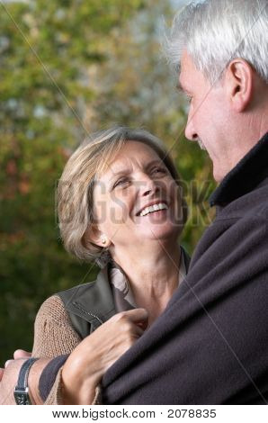 Mature Woman Smiling At Her Husband