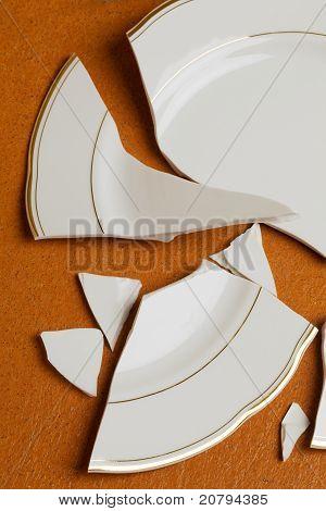 Broken dish