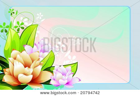 flower color vector design