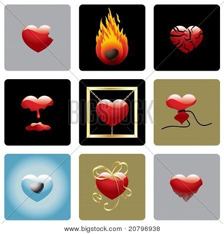Vector Hearts Set One