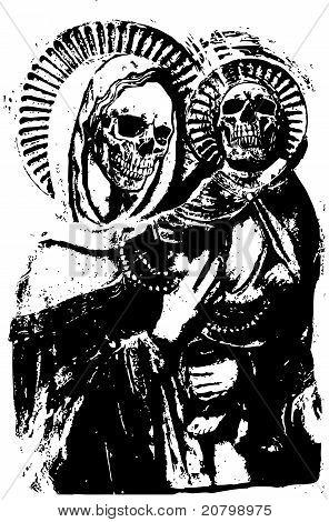 Madonna And Child skull.