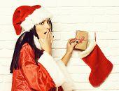 Pretty Cute Sexy Santa Girl poster