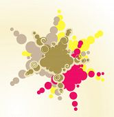 Abstract vector color shapes
