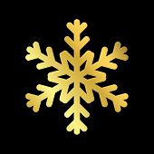 Christmas Snowflake Isolated Illustration poster