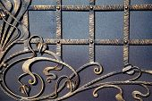 Magnificent Wrought-iron Gates, Ornamental Forging, Forged Elements Close-up poster