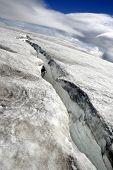 Huge Glacier Crack