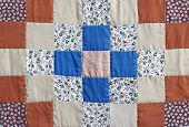 image of scrappy  - Handmade colorful padded pattern patchwork folksy multicolored quilt - JPG