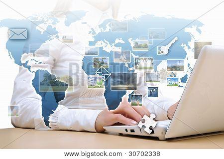 Collage de comunicación informática