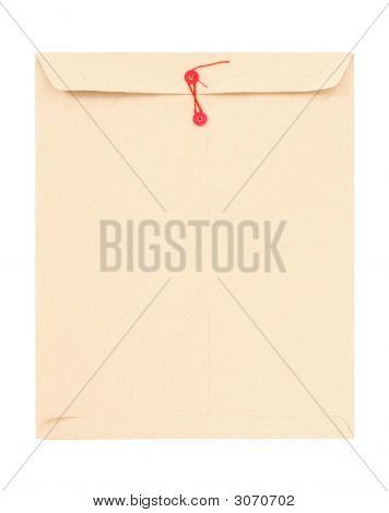 Manila Envelope With Red String