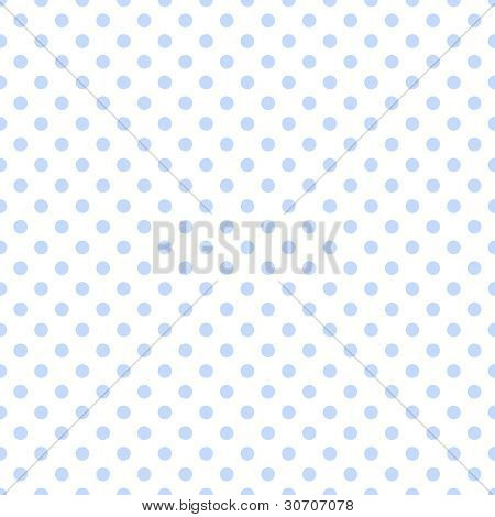 Seamless Blue Dots on White