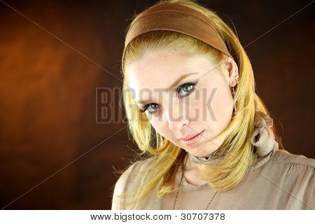 Blond gorgeous fashion model