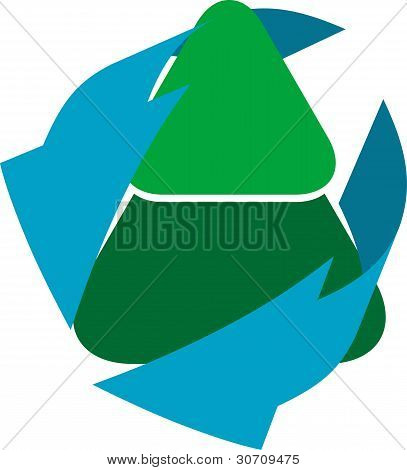 Recycling Tree Icon