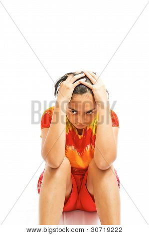 Ethnic Young Woman Depressed