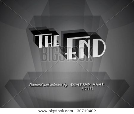 Movie ending screen - Editable Vector EPS10