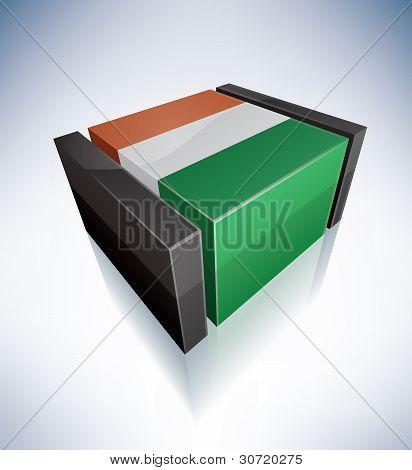 3D Flag Of Côte D'ivoire