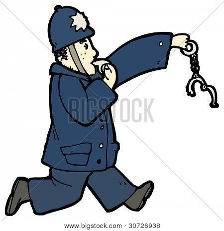 policeman chasing