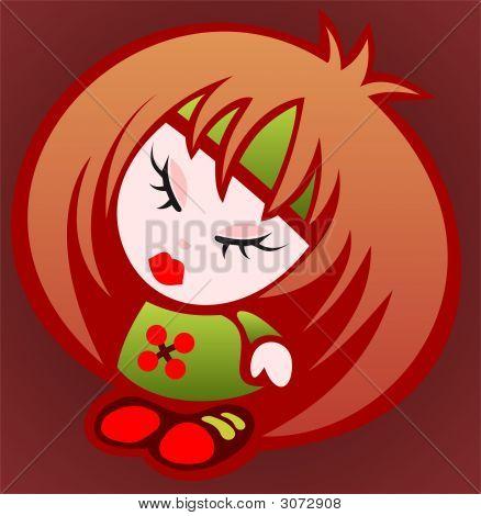 Cartoon Emo Girl