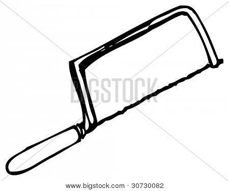 hacksaw saw doodle