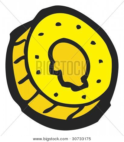 cartoon gold coin