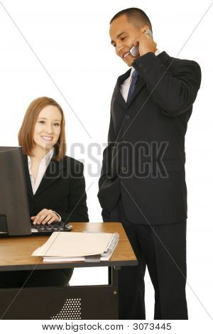 Business Woman Smiling To Camera