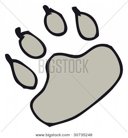 paw print cartoon
