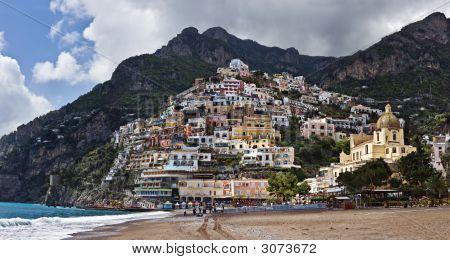 Vista de Positano, Italia