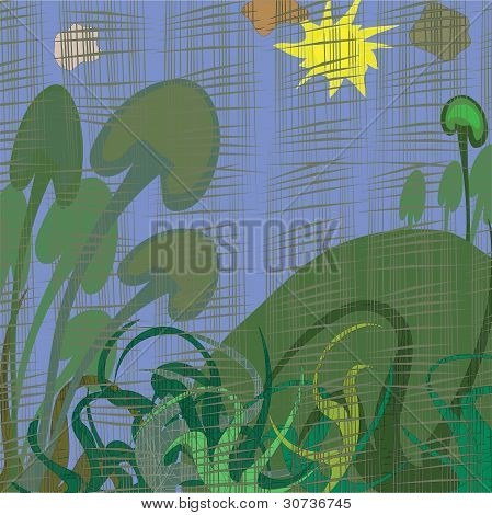 Vector Abstract Illustration Of The Landscape
