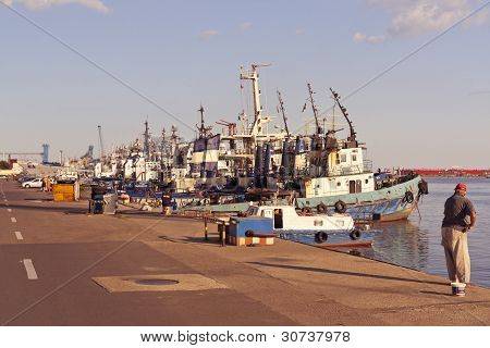 Constanta Port Berth View
