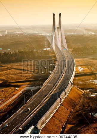 bridge on river odra