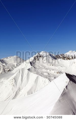 Snowy Mountains. Caucasus Mountains, Georgia, Gudauri.
