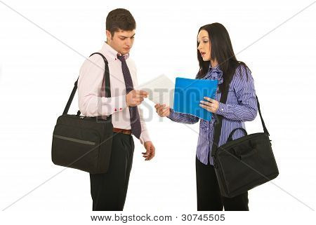 Meeting Two Business People